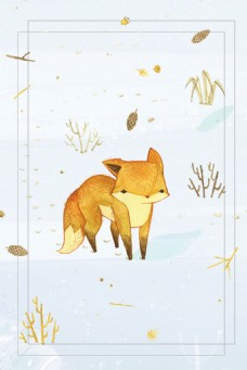 卡通小狐狸背景