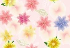 梦幻小清新花朵无缝背景