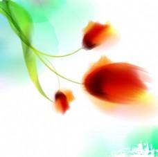 水彩抽象花