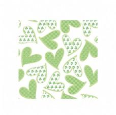 绿色心形图案矢量素材