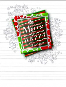 矢量文艺相框圣诞节背景