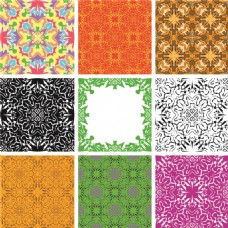 彩色几何图案矢量素材