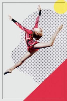 体操运动边框背景