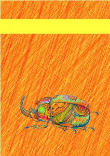 水彩昆虫创意动物画册封面背景