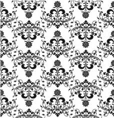 黑白印花图腾矢量素材