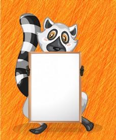 创意动物可爱松鼠儿童照片墙背景