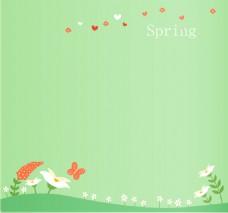 春季矢量卡通海报背景素材