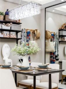 现代时尚室内餐厅餐桌效果图