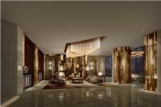 酒店大厅瓷砖效果图