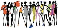 手绘各种时尚女人免抠png透明素材