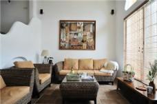 中式室内客厅沙发效果图