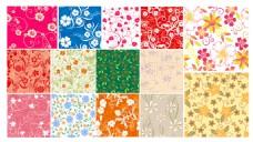 多彩花朵矢量素材背景装饰素材