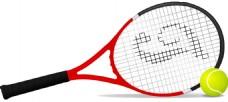 网球拍子和网球免抠png透明素材