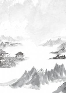 水墨中国风远山背景