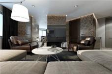 时尚室内客厅沙发效果图
