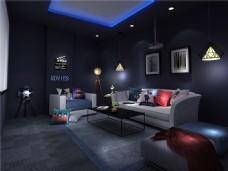 现代休闲家庭影院沙发装修效果图