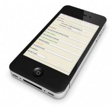 苹果4智能手机免抠png透明素材