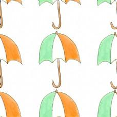 手绘雨伞透明素材