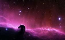 唯美紫色渐变星空背景素材