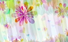 简约梦幻花朵背景墙