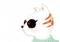 卡通猫手绘头像设计