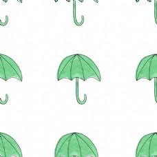 卡通雨伞透明素材