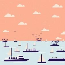 轮船航海图