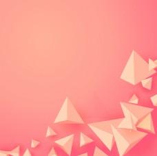 粉色锥体几何抽象海报背景模板