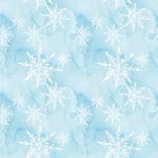 淡蓝色雪花背景填充图案素材