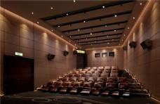 现代高端影院观众席沙发装修实景图