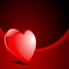 浪漫红色渐变心形背景