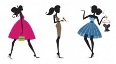 手绘时尚女人插画免抠png透明素材