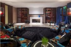 中式时尚客厅装修效果图