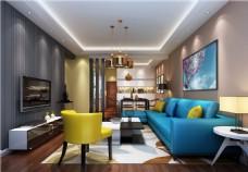 创意室内客厅沙发效果图