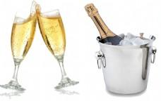 冰镇香槟酒免抠png透明素材