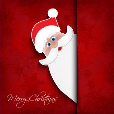 圣诞老人雪花矢量背景模板