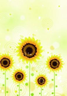 向日葵背景模板