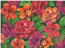 高贵卡通花朵背景素材
