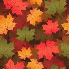 时尚秋天枫叶背景底纹