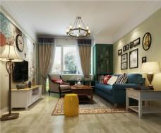 美式室内客厅装修效果图