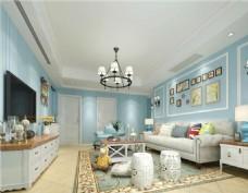 小清新室内客厅装修效果图