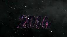 唯美粒子2016文字logo视频素材