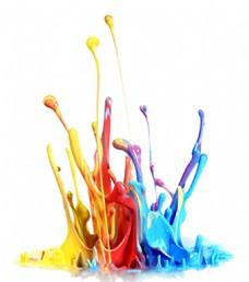 彩色颜料创意图免抠png透明素材