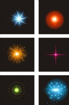 五颜六色光效设计元素