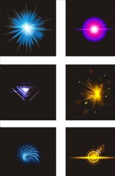 唯美梦幻彩色光效设计元素