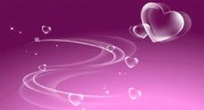 粉紫色心背景