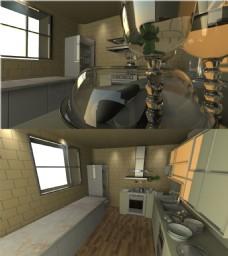 kitchen厨房效果图