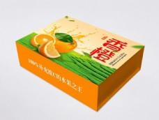 水果橙子礼品礼盒包装平面图