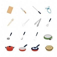 卡通手绘厨具