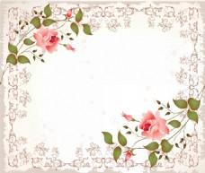 欧式花纹纹理边框背景墙